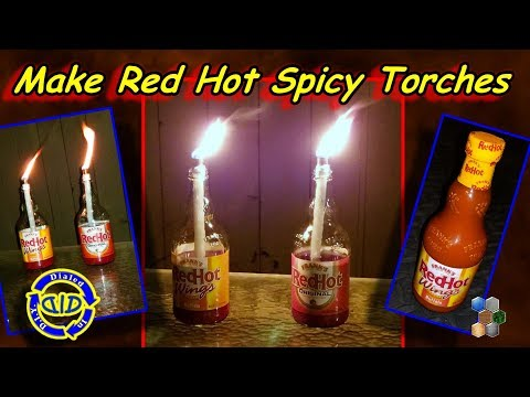 Make Red Hot Tiki Torches - Cool Decoration & Spicy Bug Deterrent