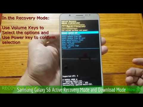 Samsung Galaxy S6 Active Recovery Mode and Download Mode