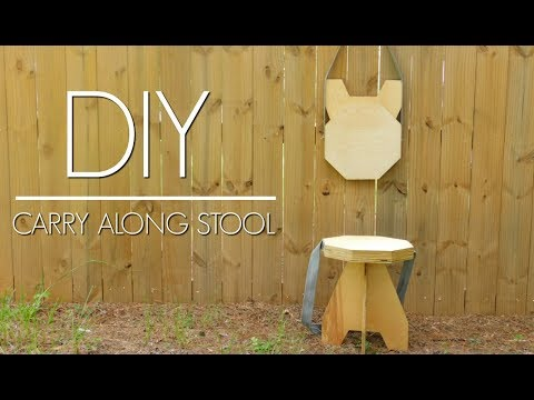 DIY - Plywood Folding Stool | Easy Woodworking Project | Izzy Swan