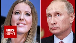 The woman running against Vladimir Putin for president - BBC News