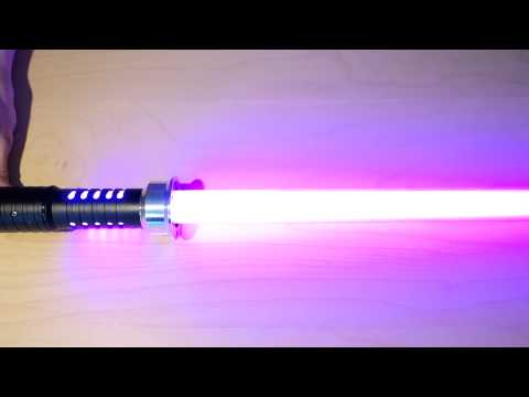 REVIEW Saberz Color changing RGB PRIZM Lightsaber  - Apollyon Hilt & Z-Blade