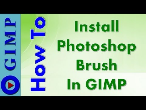 Photoshop Brush in GIMP - How to Download and Install