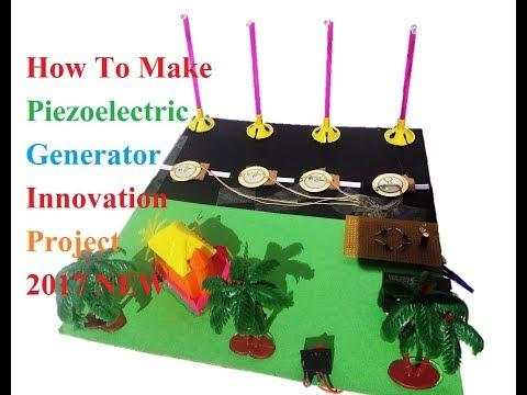 How To Make Piezoelectric Generator    New 2017   SCHOOL MODEL