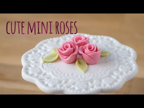 How to make a sugar mini rose - by Minh Cakes