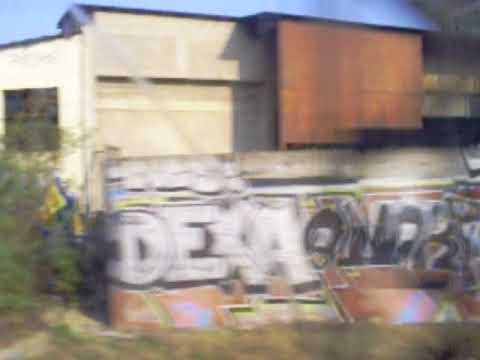 Graffiti on train ride from Paris, France, to Airport