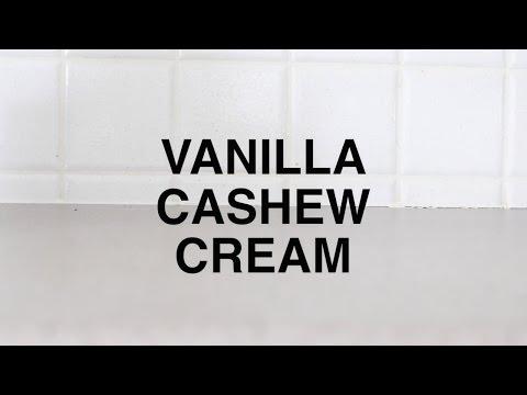 How to make Vanilla Cashew Cream | (vegan whipped cream substitute)