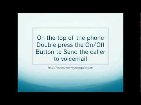 How to Send Caller to Voicemail iPhone HD