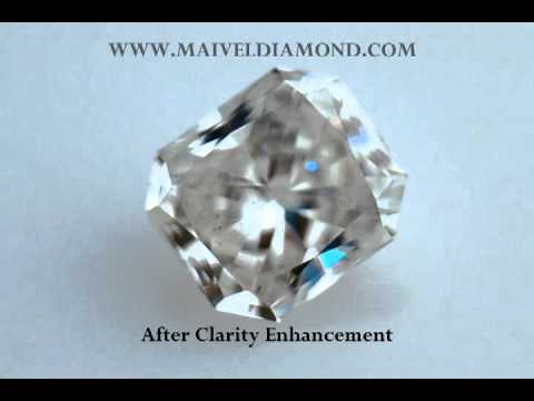 Clarity Enhanced Diamonds Before and After Enhancement