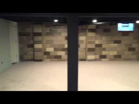 Basement Wall Paint - Stone Effect
