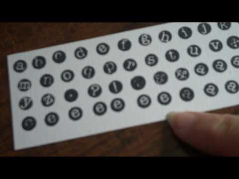 'Vintage' typewriter key letters