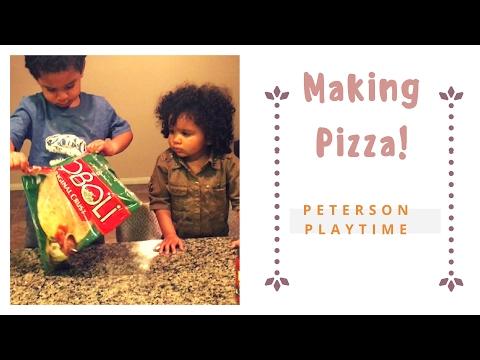 Kids Making Their Own Boboli Pizza For Dinner! Family Pizza Night! Fun Family Saturday!