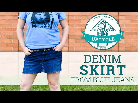 OFS Upcycle: Denim Skirt from Blue Jeans