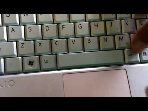 How To Replace Keyboard Laptop Sony PCG-21314W