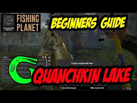 Fishing Planet - Quanchkin Lake - Alligator Gar, Catfish,  Large mouth Bass ***MONEY SPOT*** (2017)