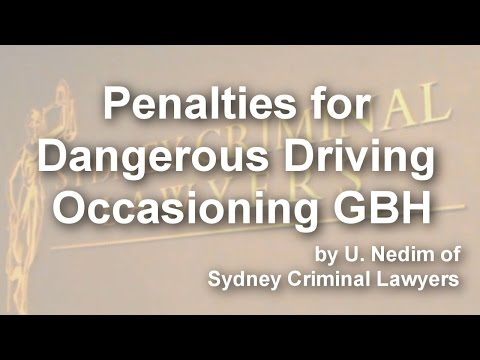 Penalties for Dangerous Driving Occasioning GBH