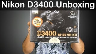 Unboxing Nikon d3400 in hindi | My First Dslr Camera