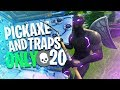 We WON With ONLY Pick Axes And Traps Fortnite Battle Royale