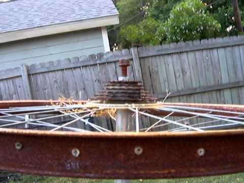 vertical wind generator bicycle wheels