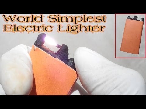 World Simplest Electric Lighter No Nichrome [Rechargeable][Very easy][Powerful]
