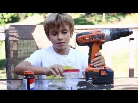 Spiderweb Gun - Halloween spider web gun uses glue - DIY make your own webs