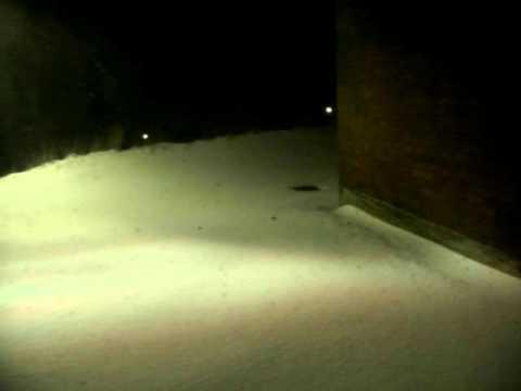 Dec 26, 2010 blizzard, Middletown, CT, USA. 8:34PM