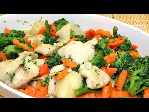SAUTEED FISH FILLET WITH VEGETABLES
