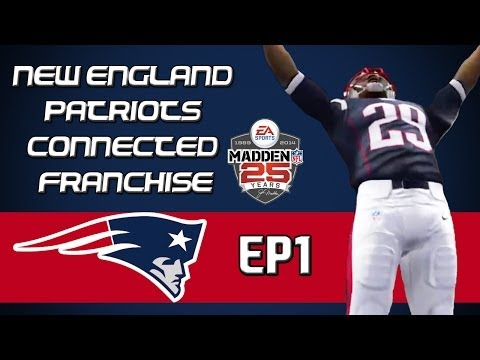 Madden NFL 25 PS4 Connected Franchise: New England Patriots - Moving on from Brady/Belichick [EP1]