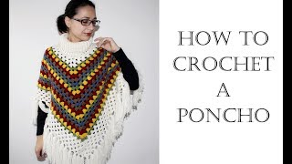 How To Crochet Easy Poncho