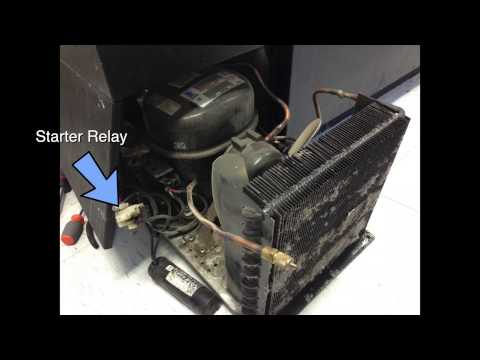 Refrigerator Troubleshooting Repair not cooling - Compressor starter relay