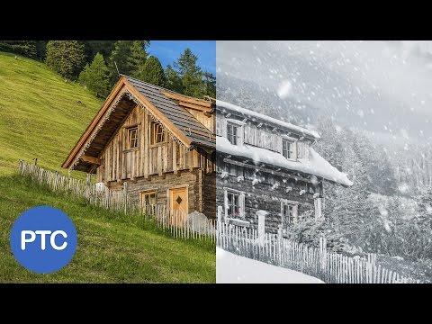 Summer To Winter - Snow Photoshop Tutorial