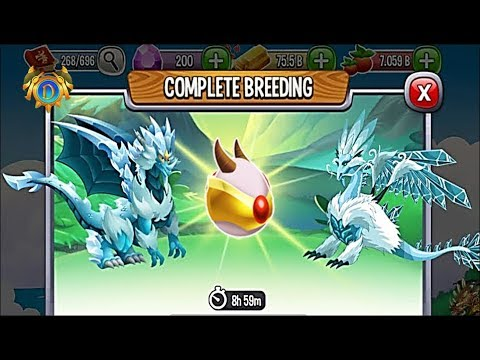 Double Ice Dragon vs Ice Dragon | Dragon City [RARE BREEDING DRAGON]