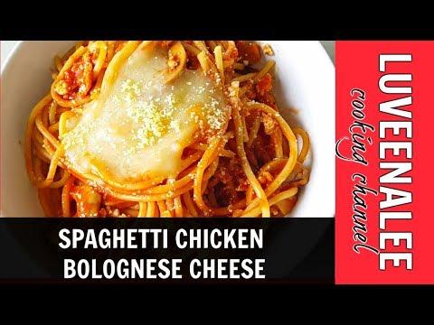 Spaghetti Chicken Bolognese Cheese