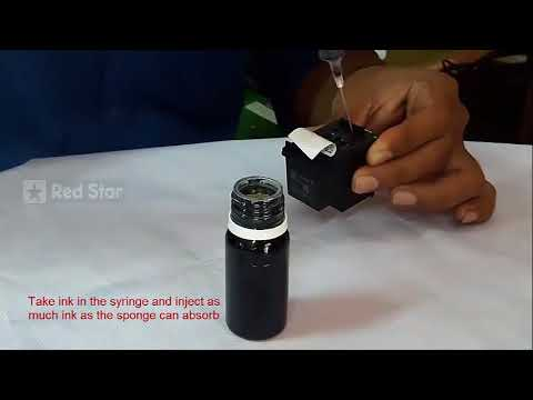 How to refill HP black ink cartridge with parrot refill kit