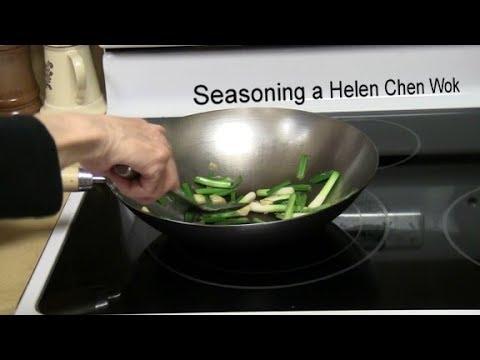 Seasoning a Helen Chen Wok