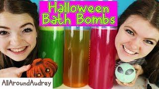 Halloween BATH BOMB Challenge GONE WRONG!! A Big SPOOPY MESS! /AllAroundAudrey