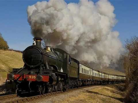 TRAIN Sound Effects - Steam Train Start and Whistle