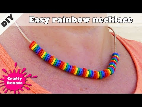 How to make a necklace for Pride month - melted Perler beads necklace
