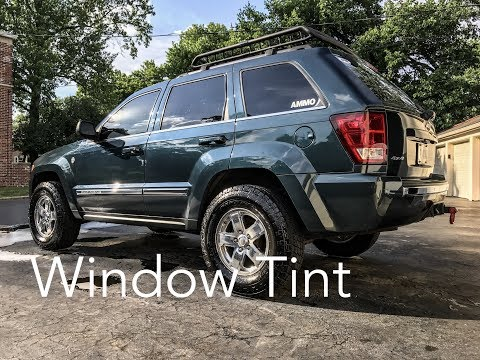 Tinting the Windshield and Doors of my JEEP!