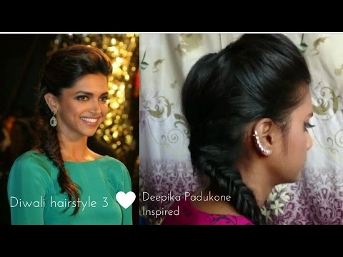 Hairstyle 3 | Diwali Special | Deepika Padukone Inspired Hairstyle | Tutorial | Fishtail Braid
