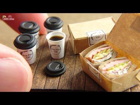 Miniature Coffee & sandwich DIY - Petit Palm