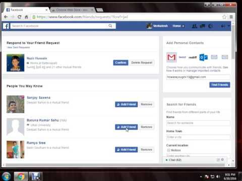 how to send friend request to all friends in one click