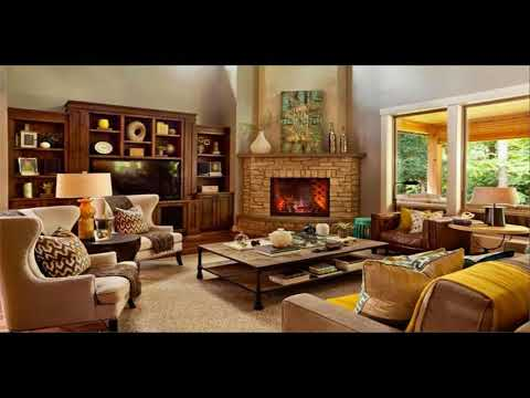 Living Room With Corner Fireplace Design Ideas