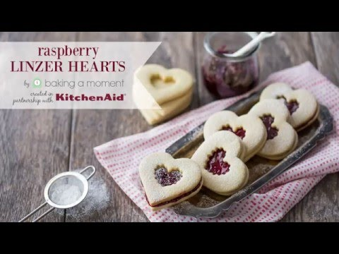 Valentine's Day Linzer Cookies by Baking a Moment | KitchenAid