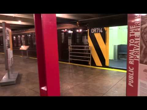 New York Transit Museum - subway cars