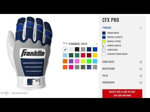 Franklin Sports Custom CFX Pro Batting Gloves