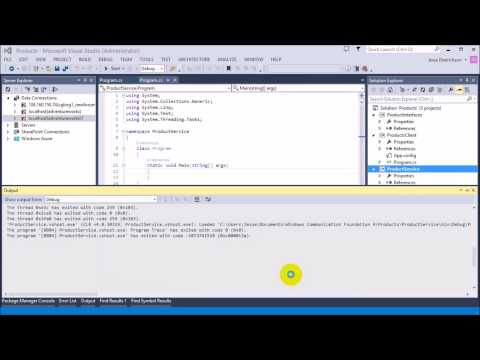 WCF using C#: Building your first WCF application