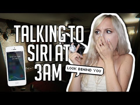 OMG DO NOT TALK TO SIRI AT 3AM! CHALLENGE GONE WRONG