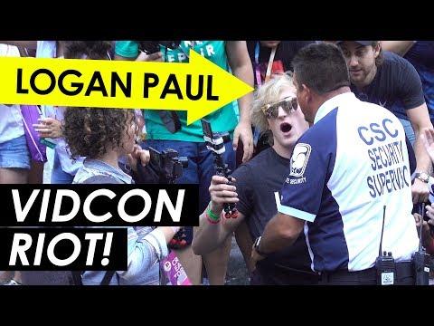 Logan Paul Starts a RIOT at VidCon 2017!
