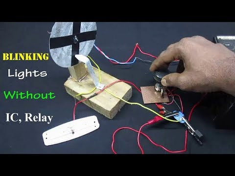 Without IC/Relay | How to make simple Blinking Lights using DC Motor Easy Way