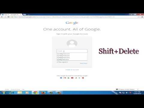 How to delete specific autofill in chrome